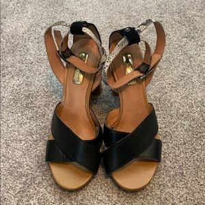 Like new Halogen leather sandal heels